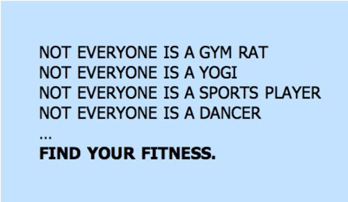 There's Something For Everyone … You Just Have to Find YourFitness.