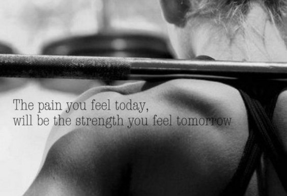 Progress Tomorrow is Worth Pain Today.